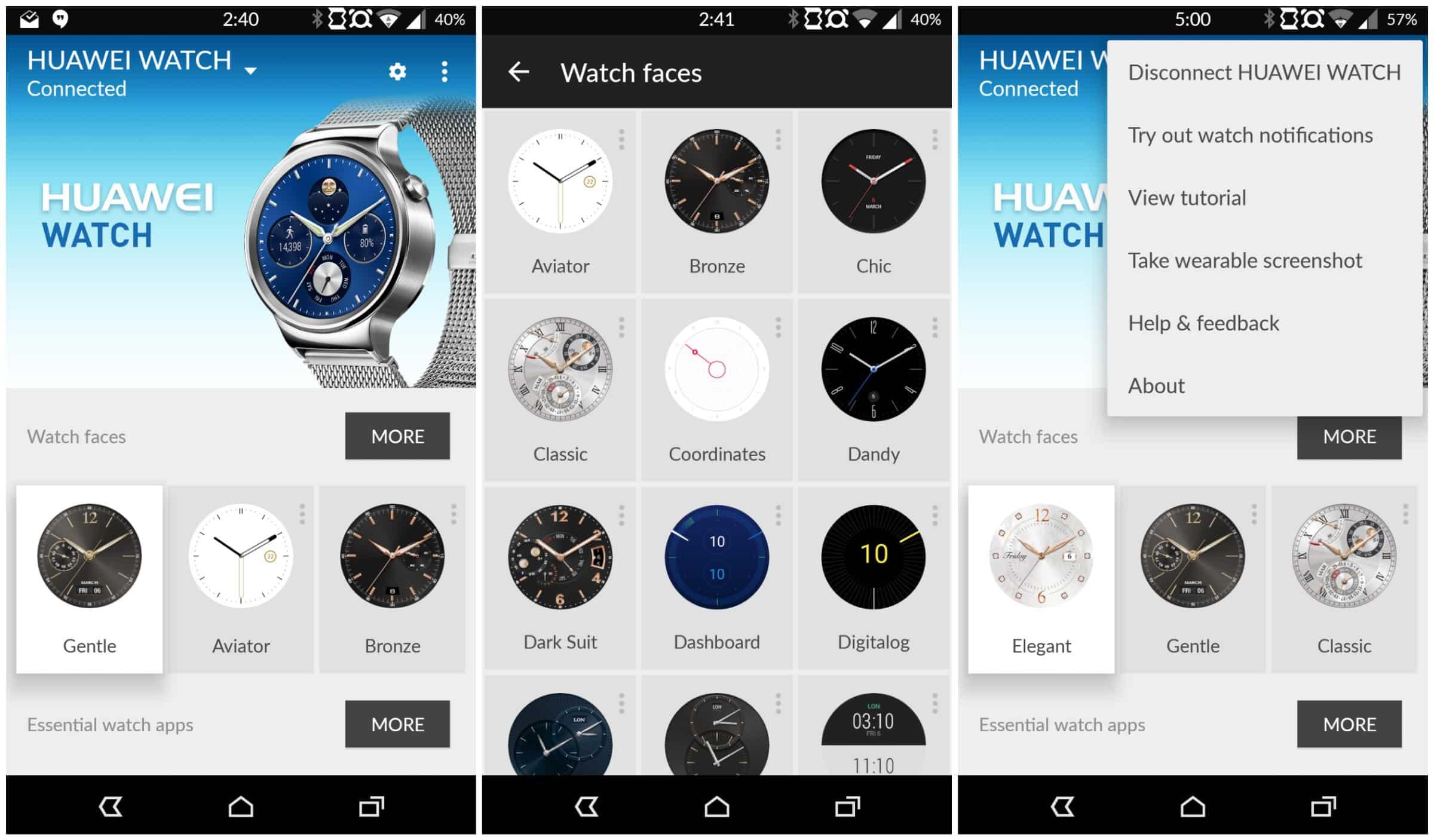 Huawei Watch App Screen