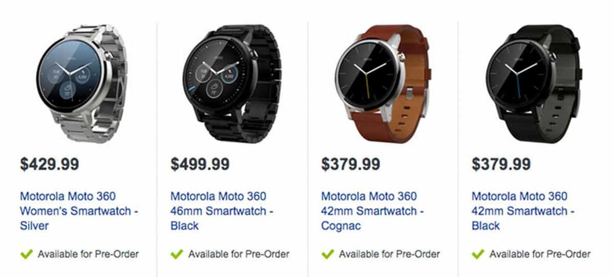 Moto 360 at Best Buy Canada