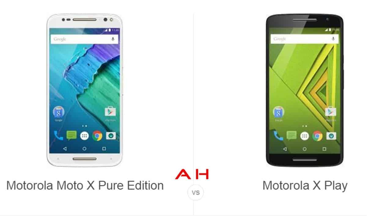 Moto X Play vs Moto X Pure Edition cam AH