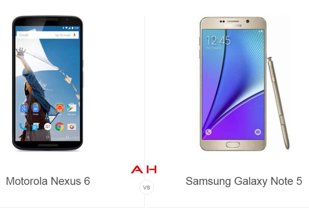 Nexus 6 vs Note 5 cam AH