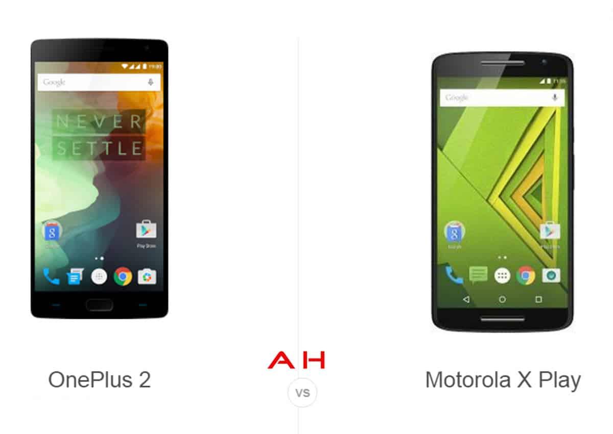 OnePlus 2 vs Moto Play cam AH