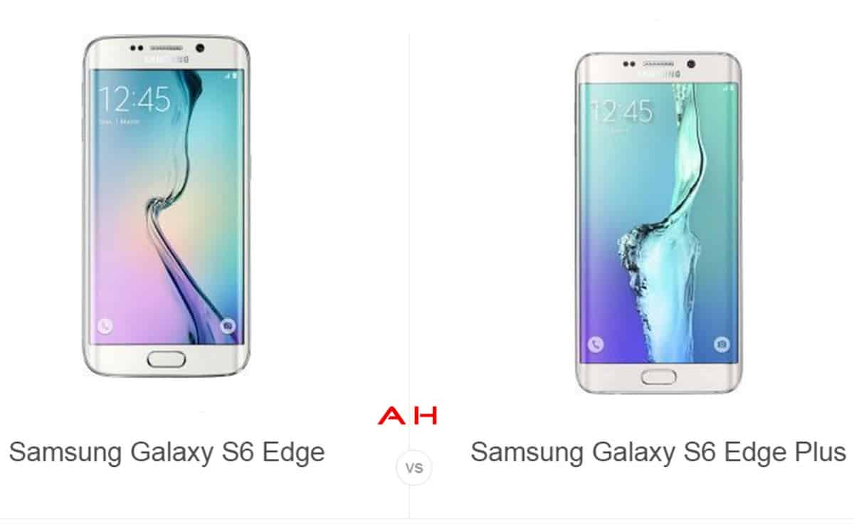 S6 Edge vs S6 Edge+ cam AH