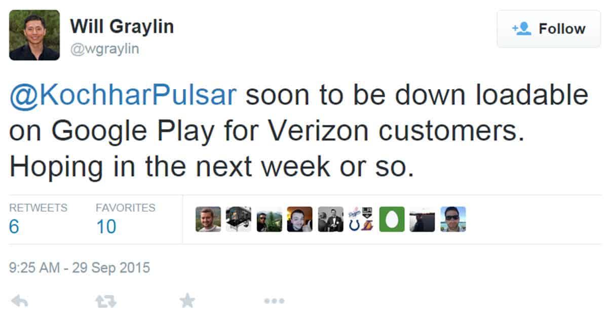 Samsung Tweet about Verizon