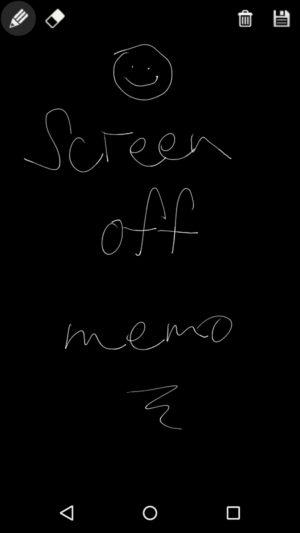 screen off memo