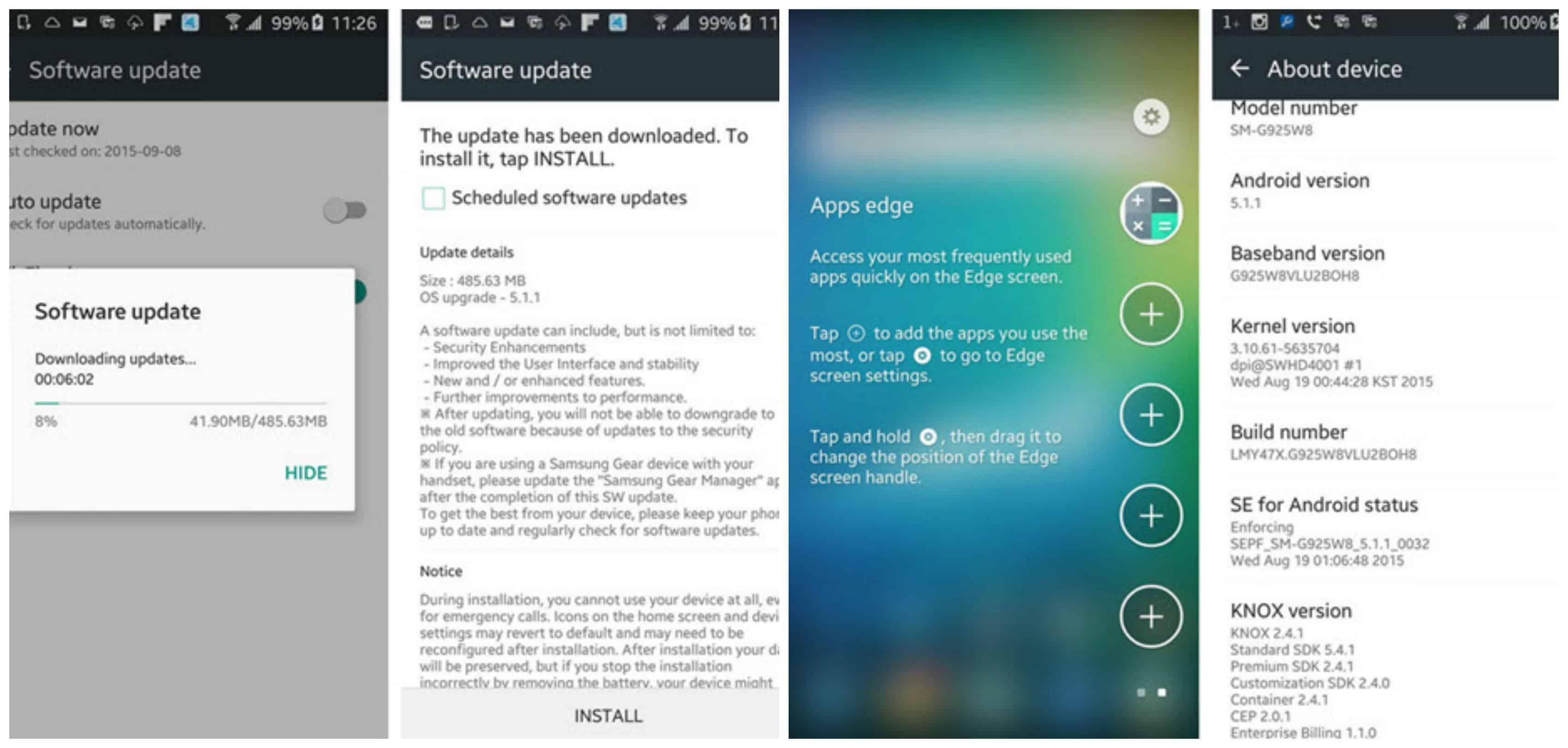 Telus Galaxy S6 Edge getting 5.1.1 upgrade Main