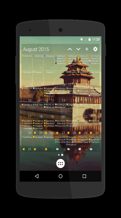 Text month widget (2)