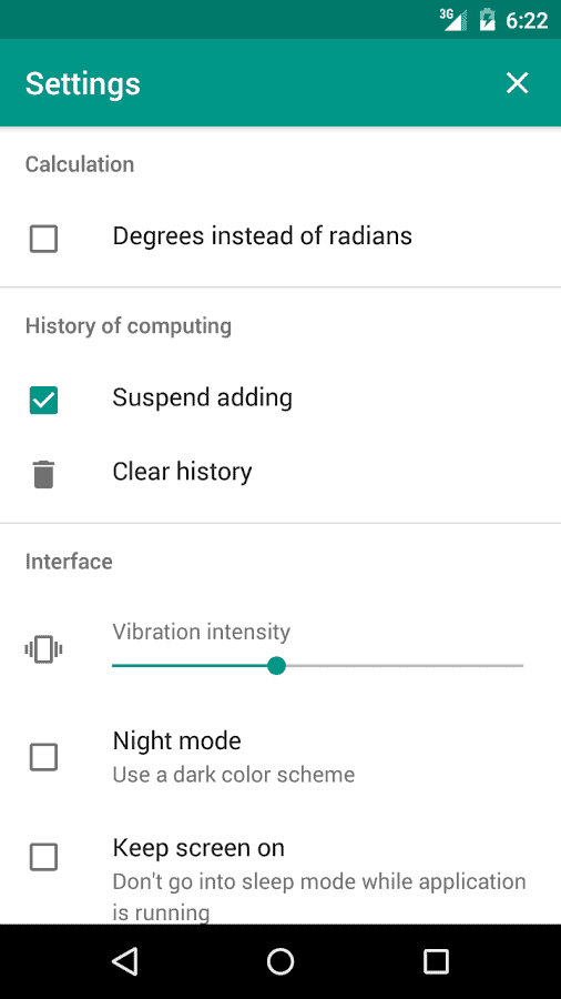 Touch and solve settings