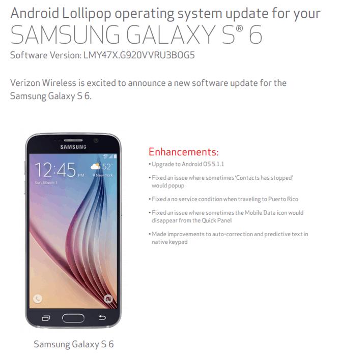 Verizon Update GS6 5111