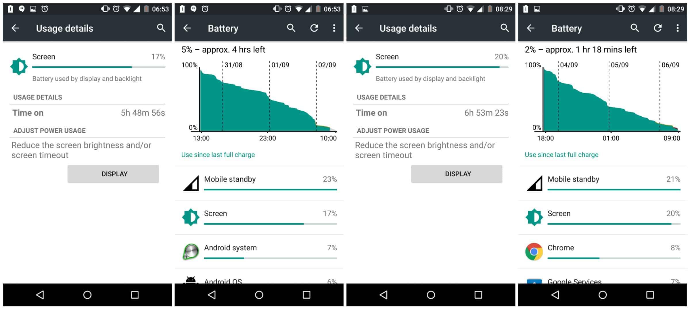 XPlay battery Screen