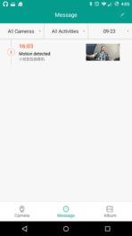 XiaoYi Ants Cam AH screen alerts main