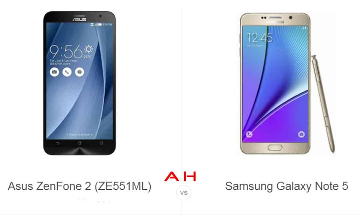 ZenFone 2 vs Note 5 cam AH