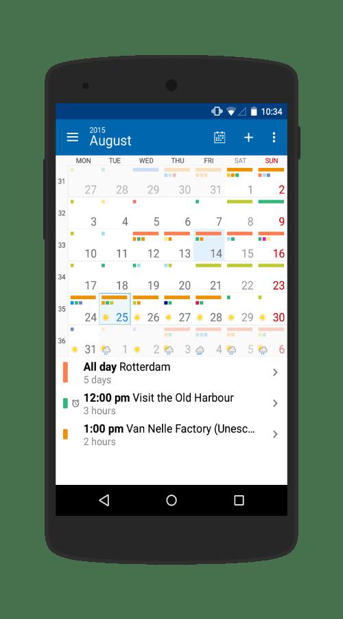 month calendar light theme