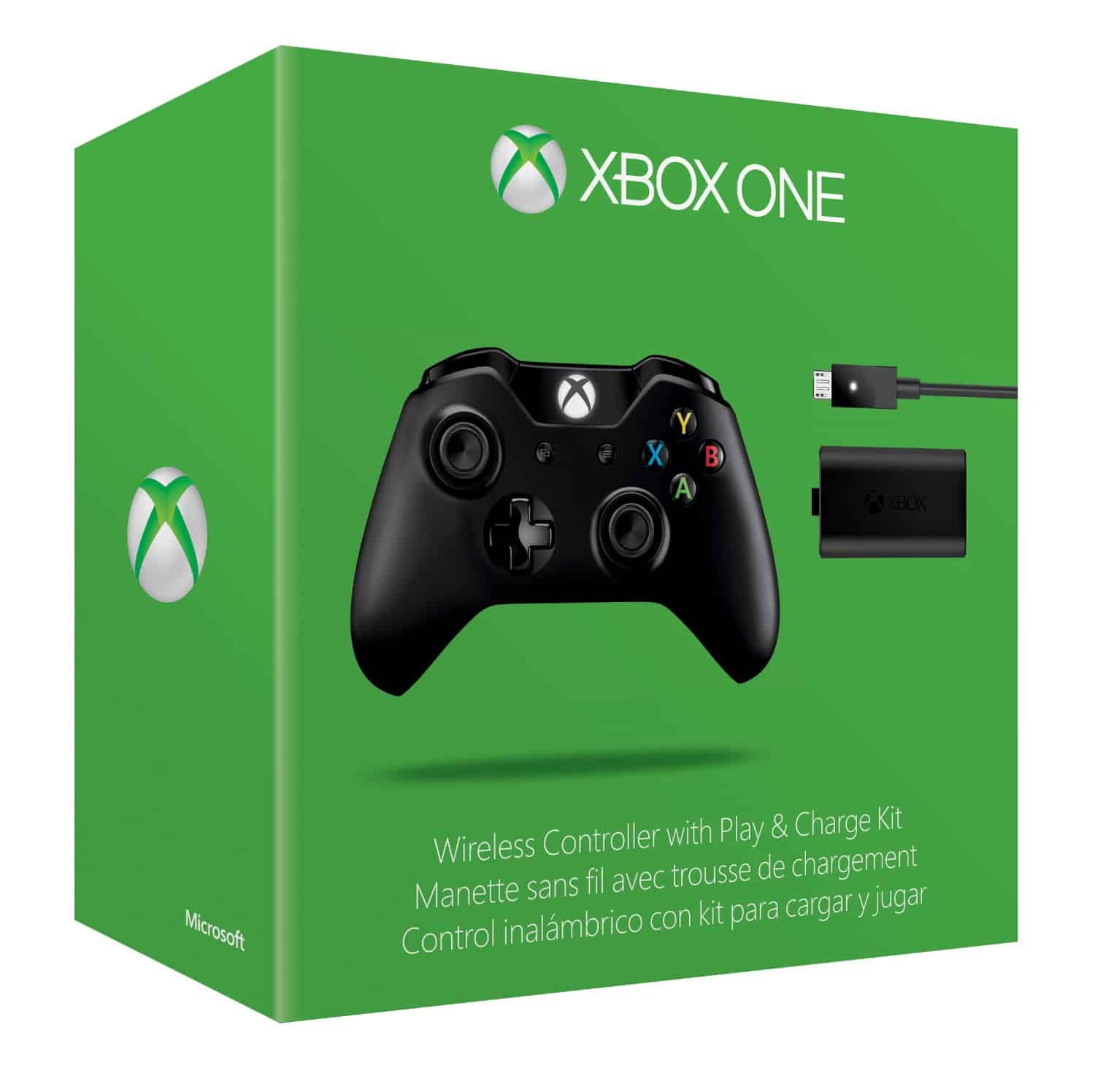 Xbox One Wireless Controller w/play & charge kit