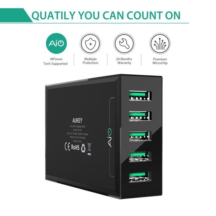 Aukey 5 Port USB Desktop Charging Station 05