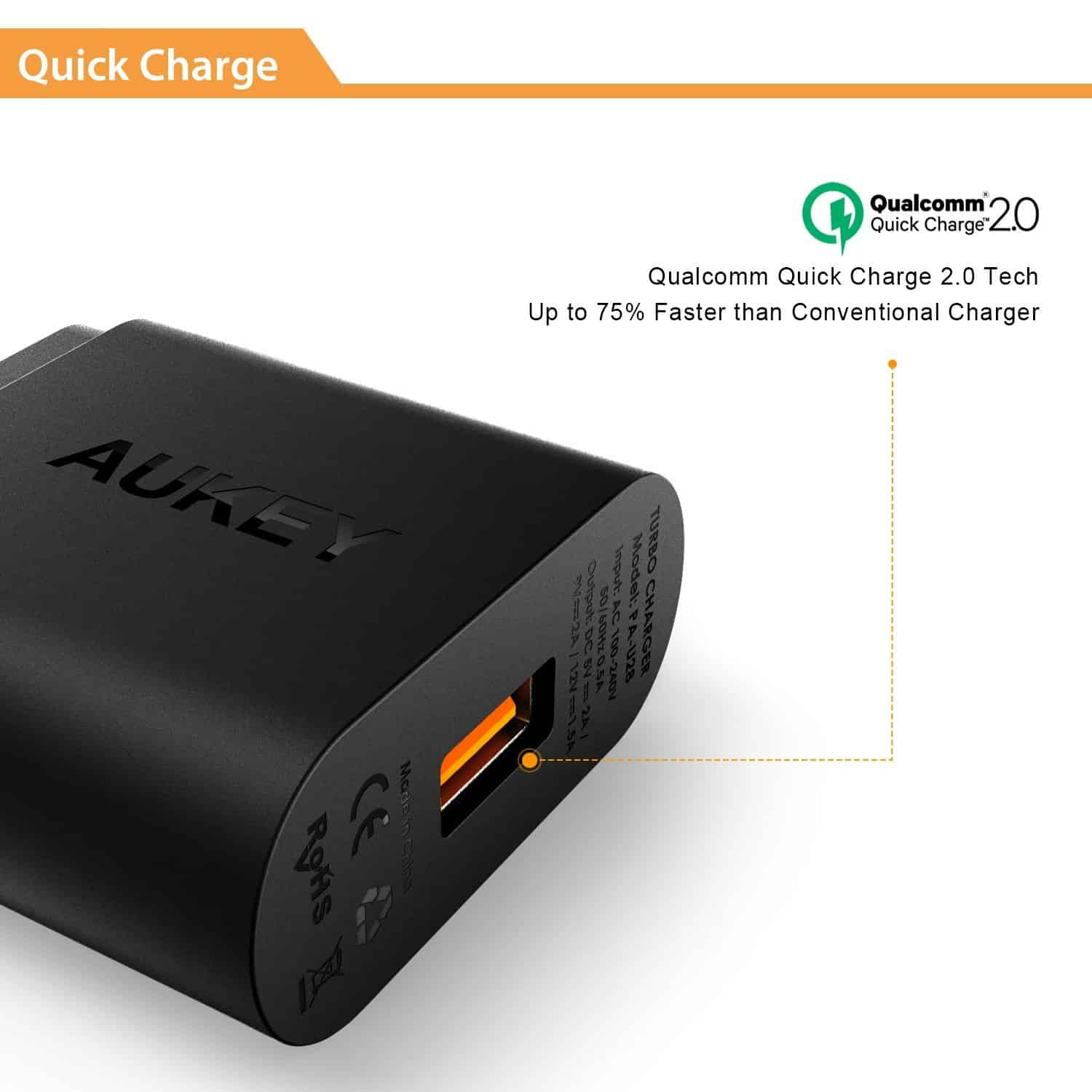 Aukey QC Charger 03