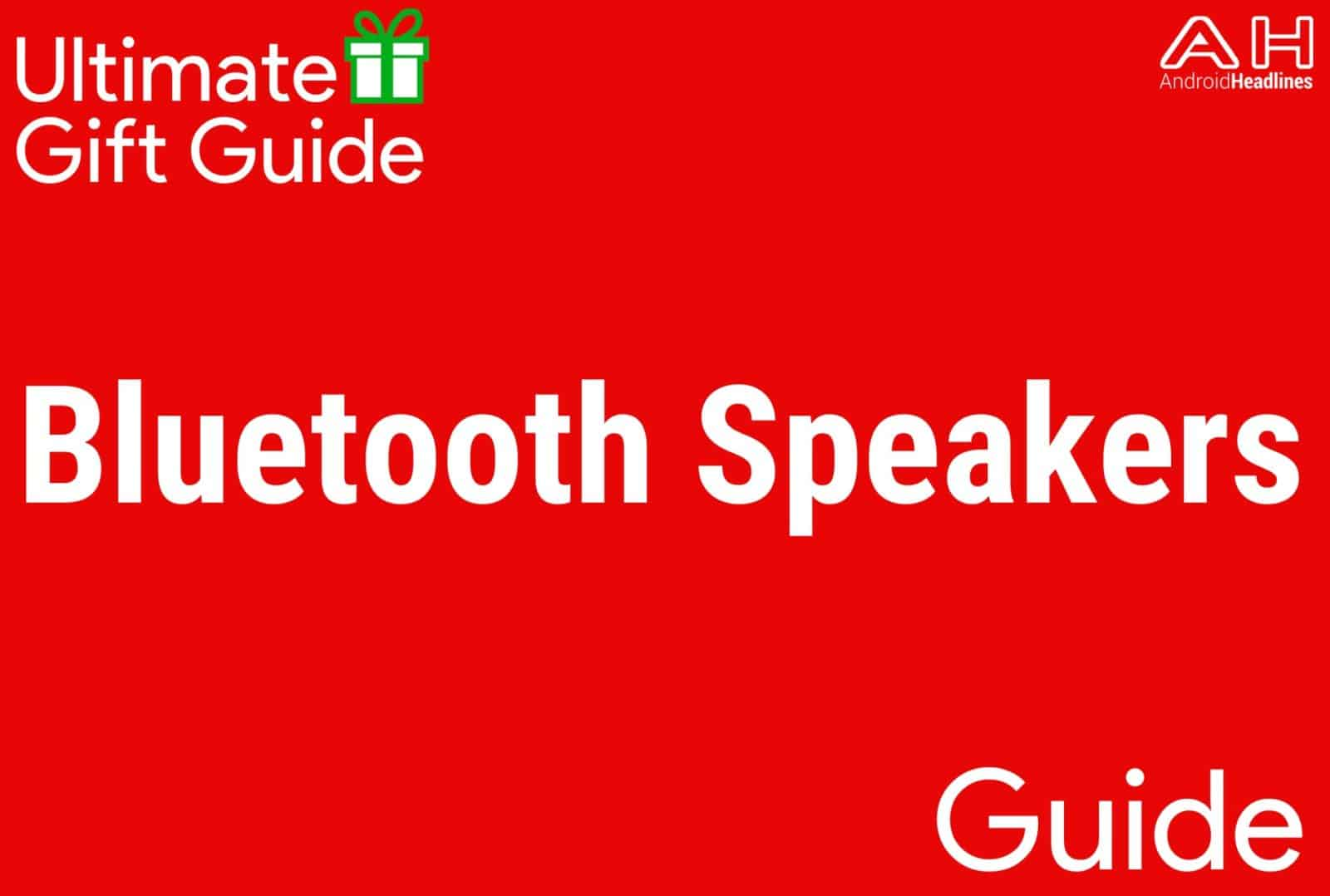Bluetooth Speakers - Gift Guide 2015