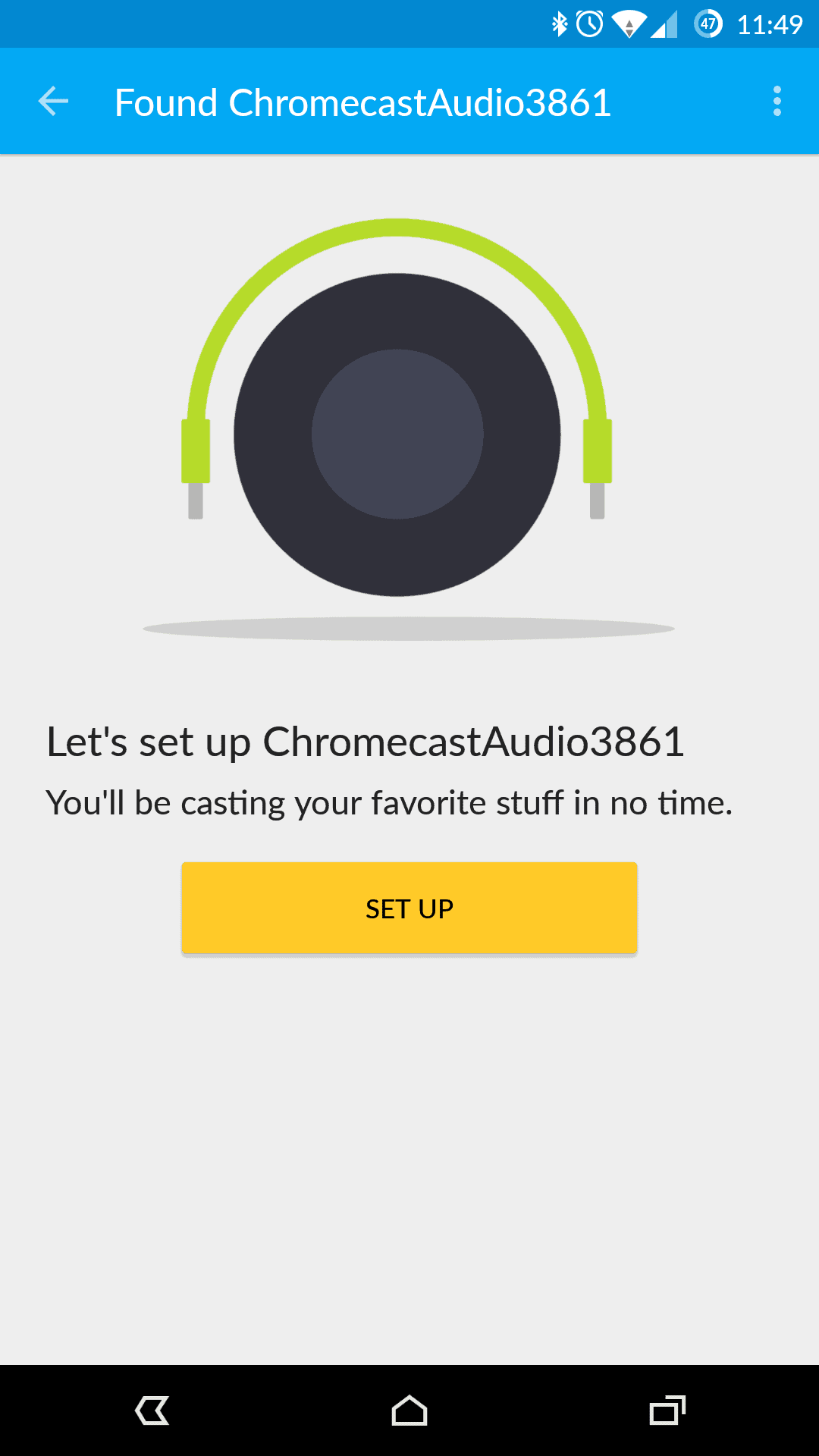 Chromecast Audio Setup AH 01