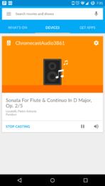 Chromecast Audio app now casting