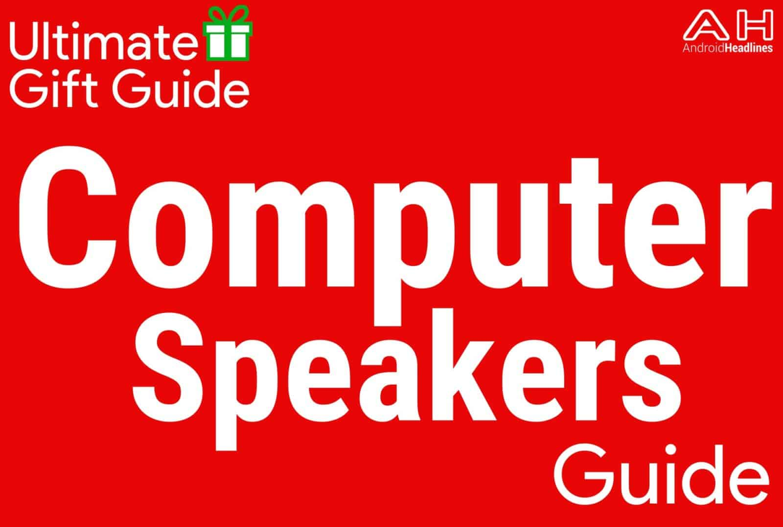 Computer Speakers - Holiday Gift Guide Template