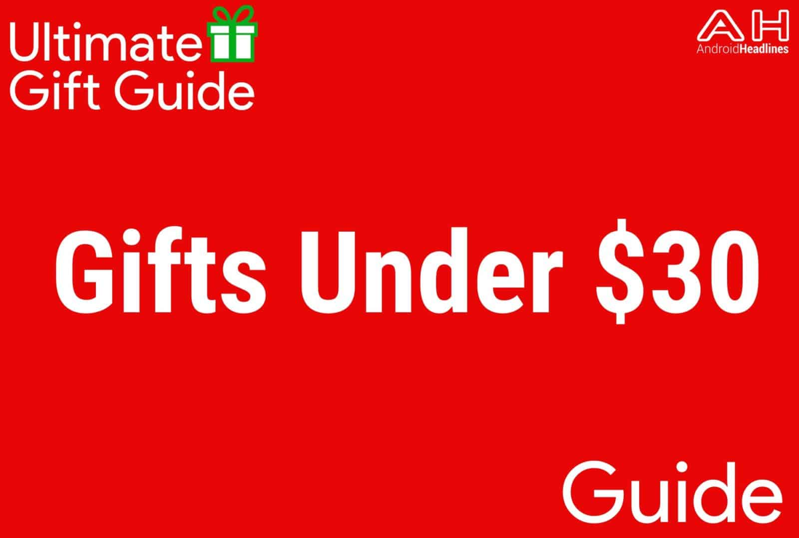 Gifts Under $30 - Gift Guide 2015