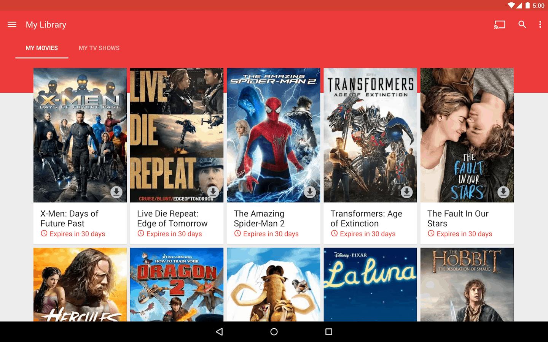 Google Play Movies and TV KK