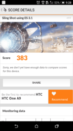 HTC One A9 Screen bench 2