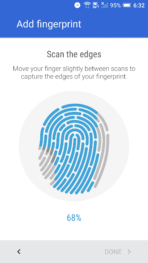 HTC One A9 Screen fingerprint 3