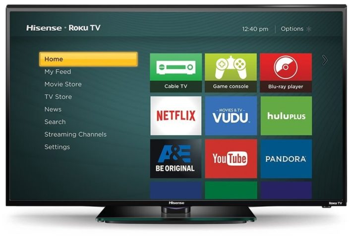 Hisense 40H4C 40-Inch 1080p 60Hz Smart LED Roku TV (2015 Model)