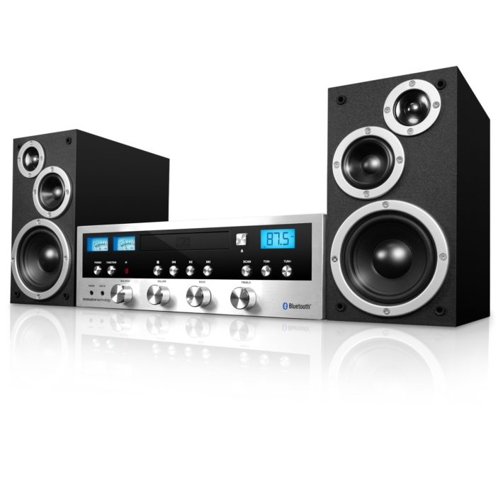 Innovative Technology ITCDS-5000 Classic Retro Bluetooth Stereo System