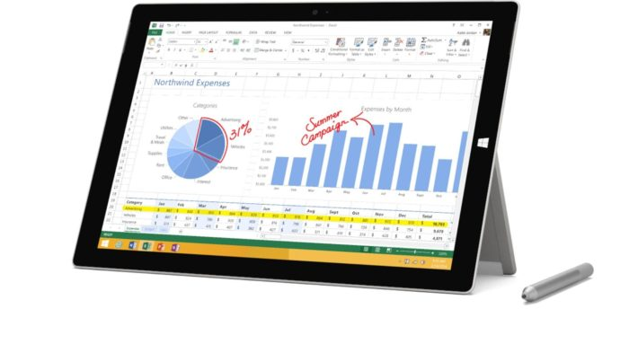 Microsoft Surface Pro 3 (128 GB, Intel Core i5, Windows 8.1) - Free Windows 10 Upgrade