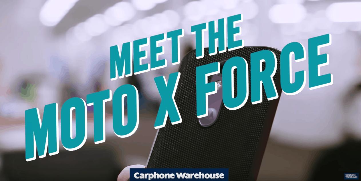 Moto X Force Carphone Warehouse