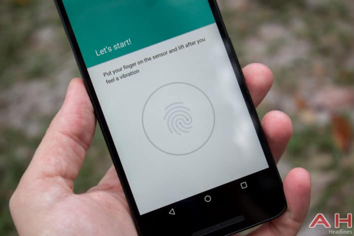 Nexus 5x AH fingerprint software