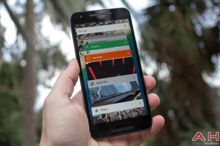 The Nexus 5x has trouble multi-tasking sometimes.