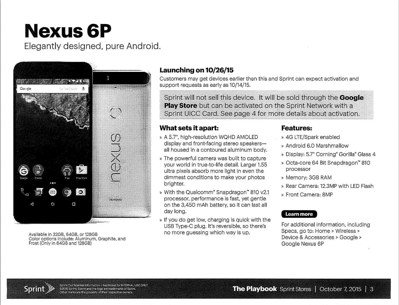 Nexus 6P Sprint availability leaked flyer_1