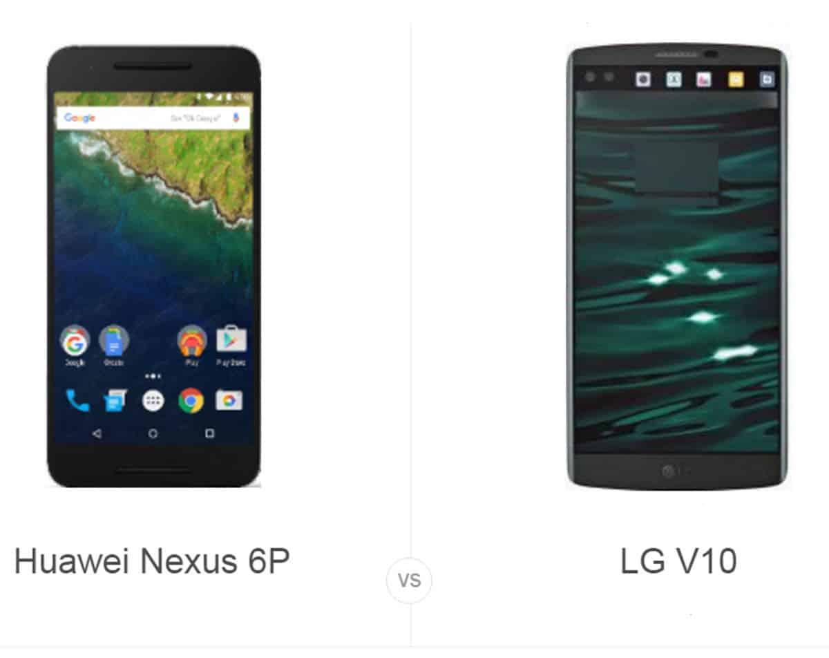 Nexus 6P vs LG V10 cam AH