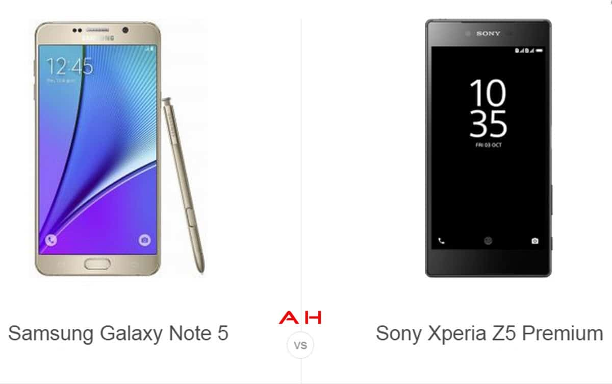 Note 5 vs Xperia Z5 cam AH