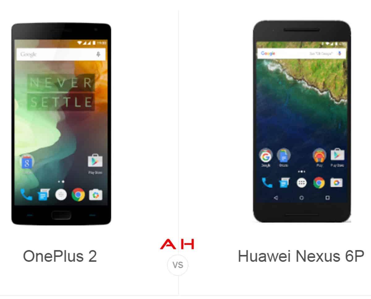 OnePlus 2 vs Huawei Nexus P6 cam AH