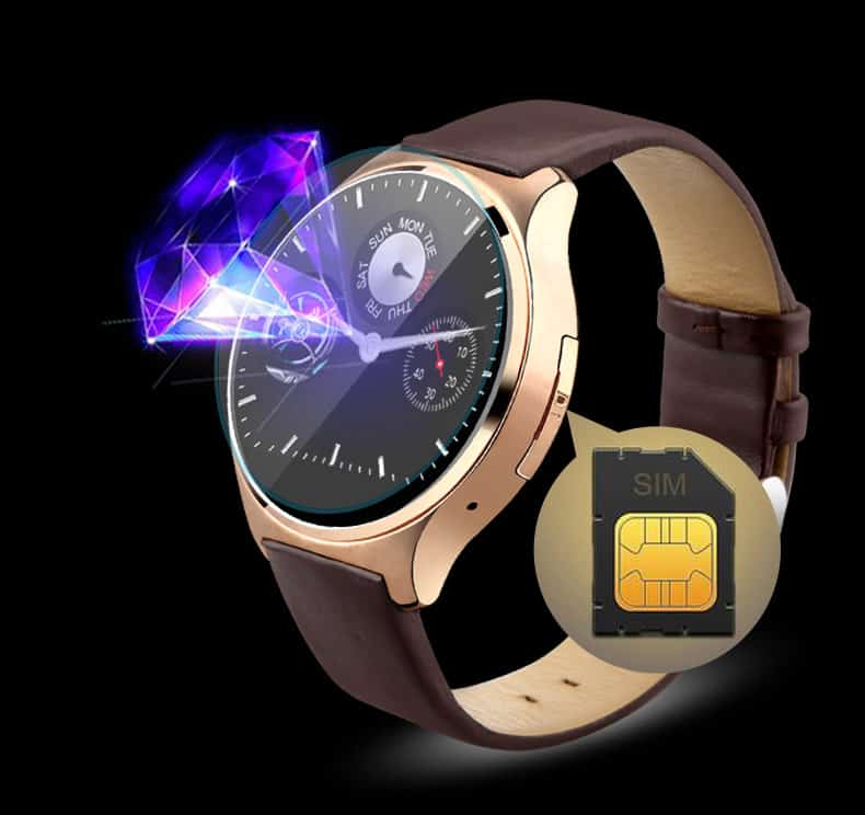oukitel a29 is a round smartwatch with a sim card support. Black Bedroom Furniture Sets. Home Design Ideas
