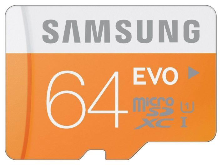 Samsung 64GB EVO Class 10 Micro SDXC