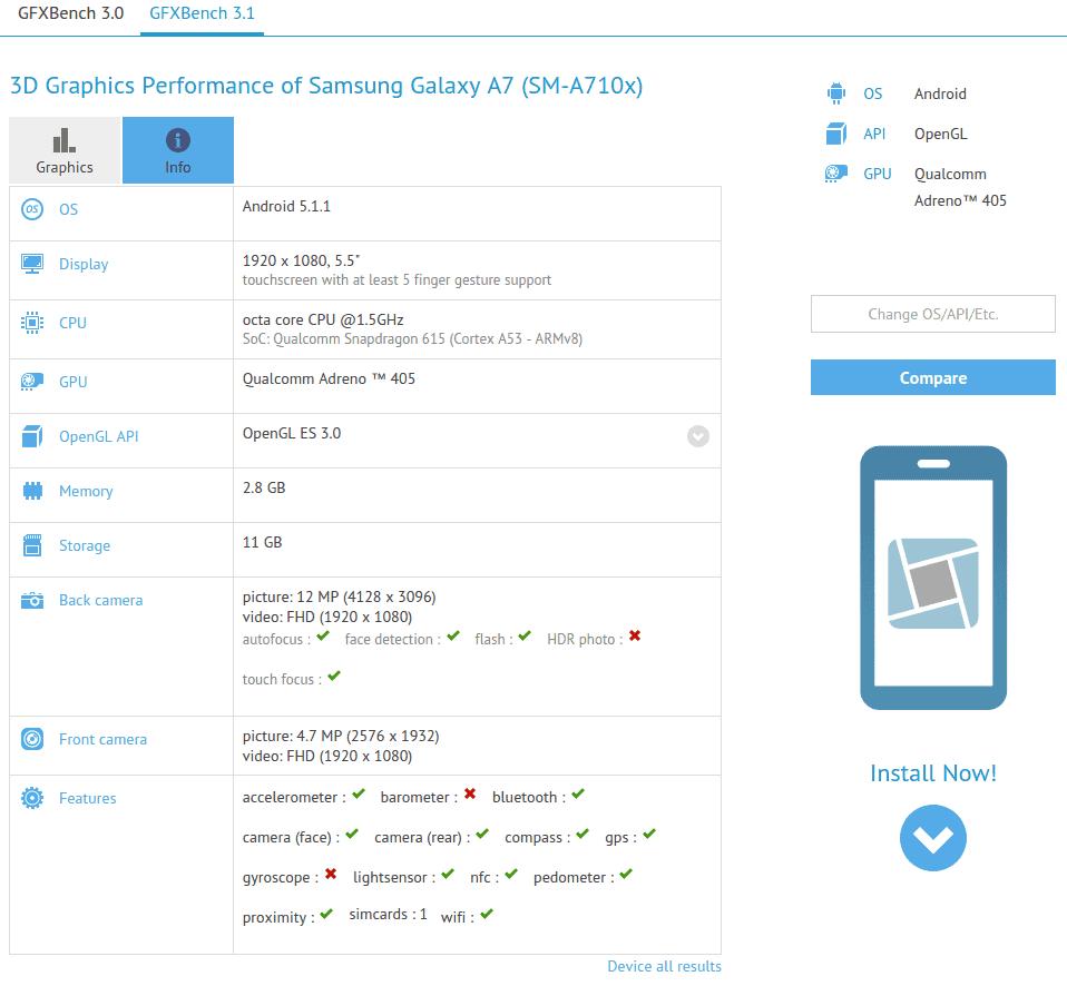 Samsung Galaxy A7 (SM-A710x) GFXBench_1