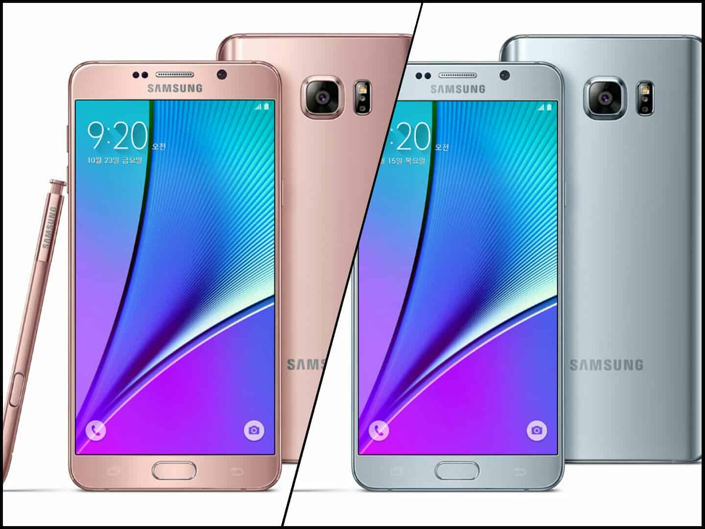 Samsung Unveils 2 New Galaxy Note 5 Color Options In Korea