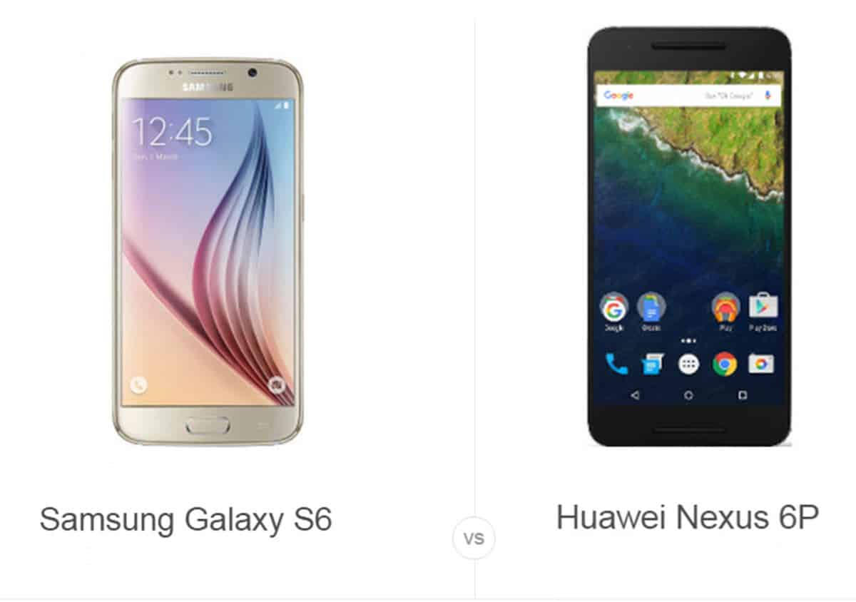 Samsung S6 vs Nexus 6P cam AH