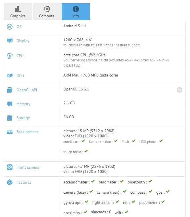 Samsung SM-W2016 GFXBench KK