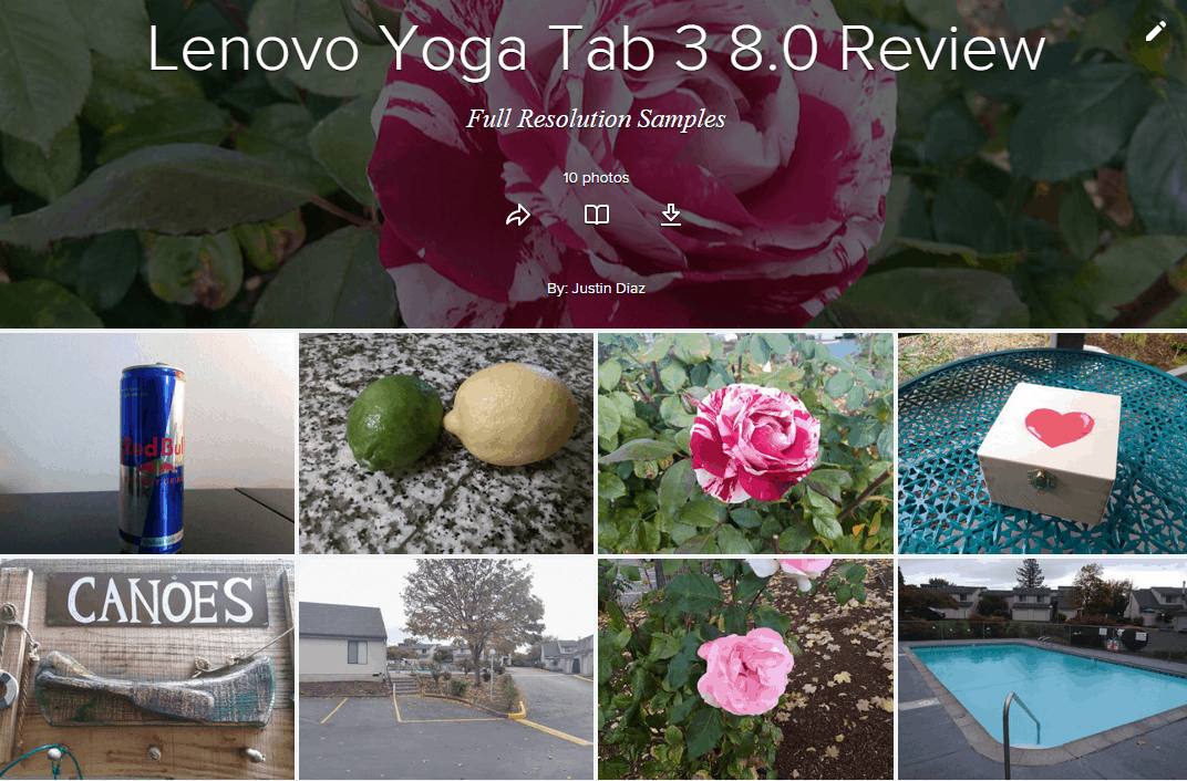 Lenovo Yoga Tab 3 8.0 Camera Samples