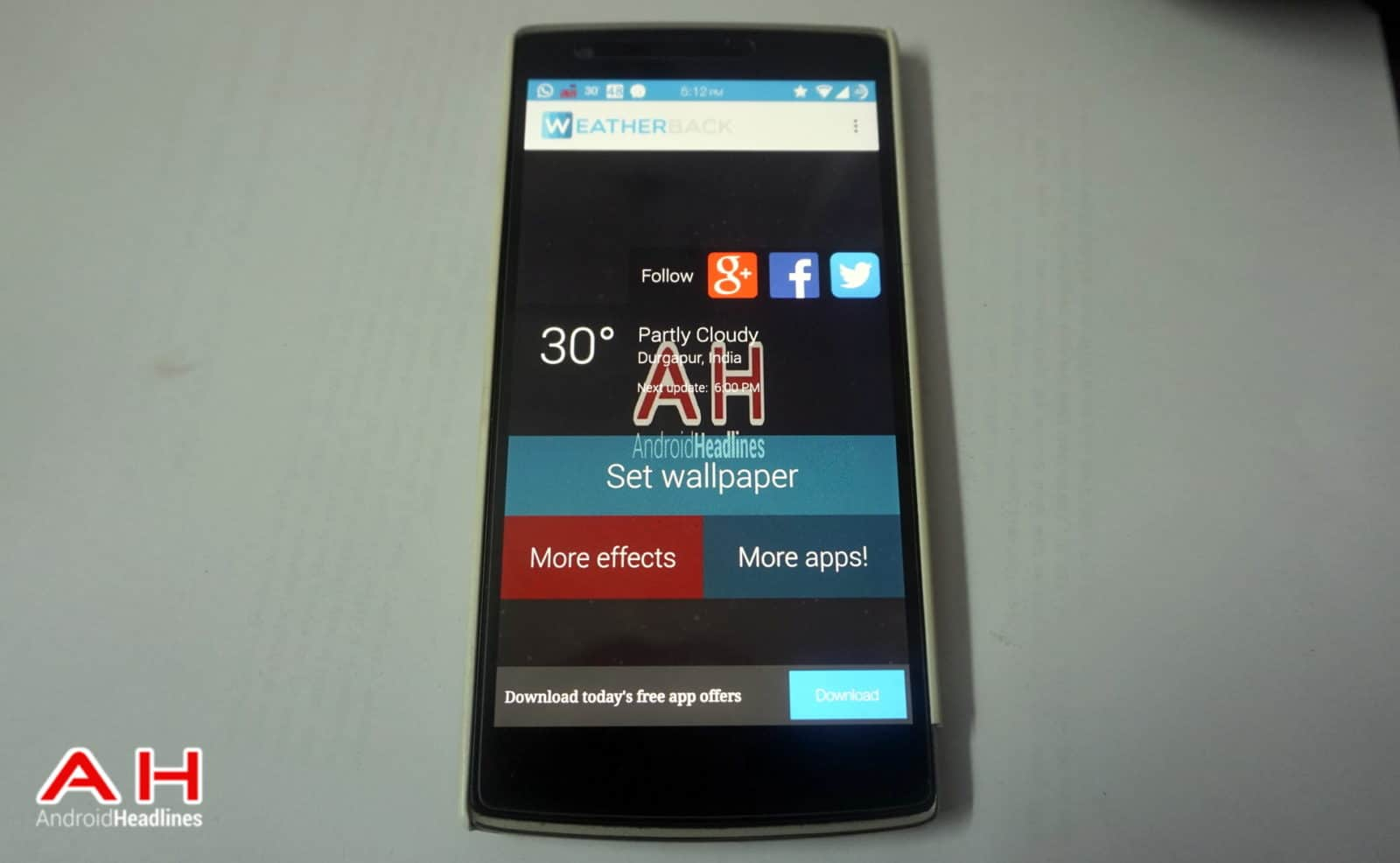 Weatherback App Cover
