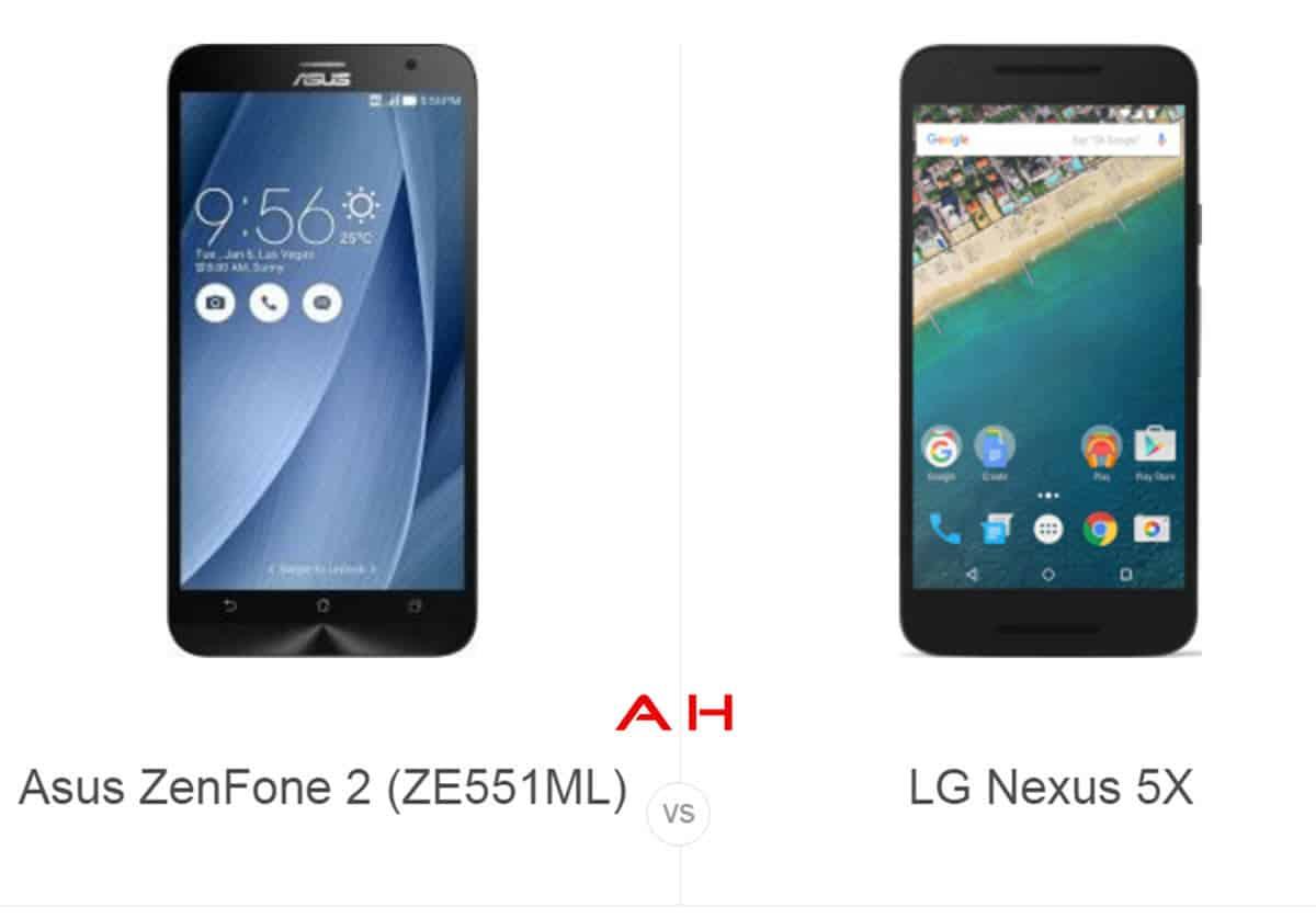 Zenfone 2 vs Nexus 5X cam AH