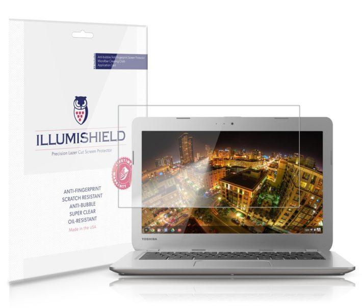 iLLumiShield - Toshiba Chromebook 13.3 Screen Protector Japanese Ultra Clear HD Film with Anti-Bubble and Anti-Fingerprint