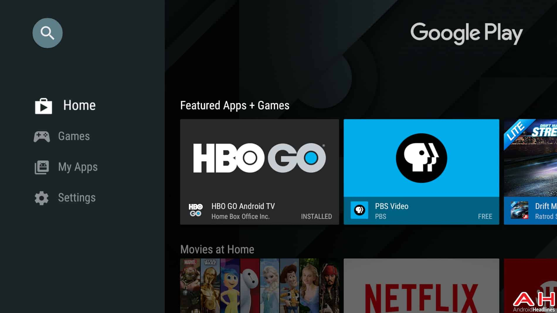 Android TV Play Store Update AH 1