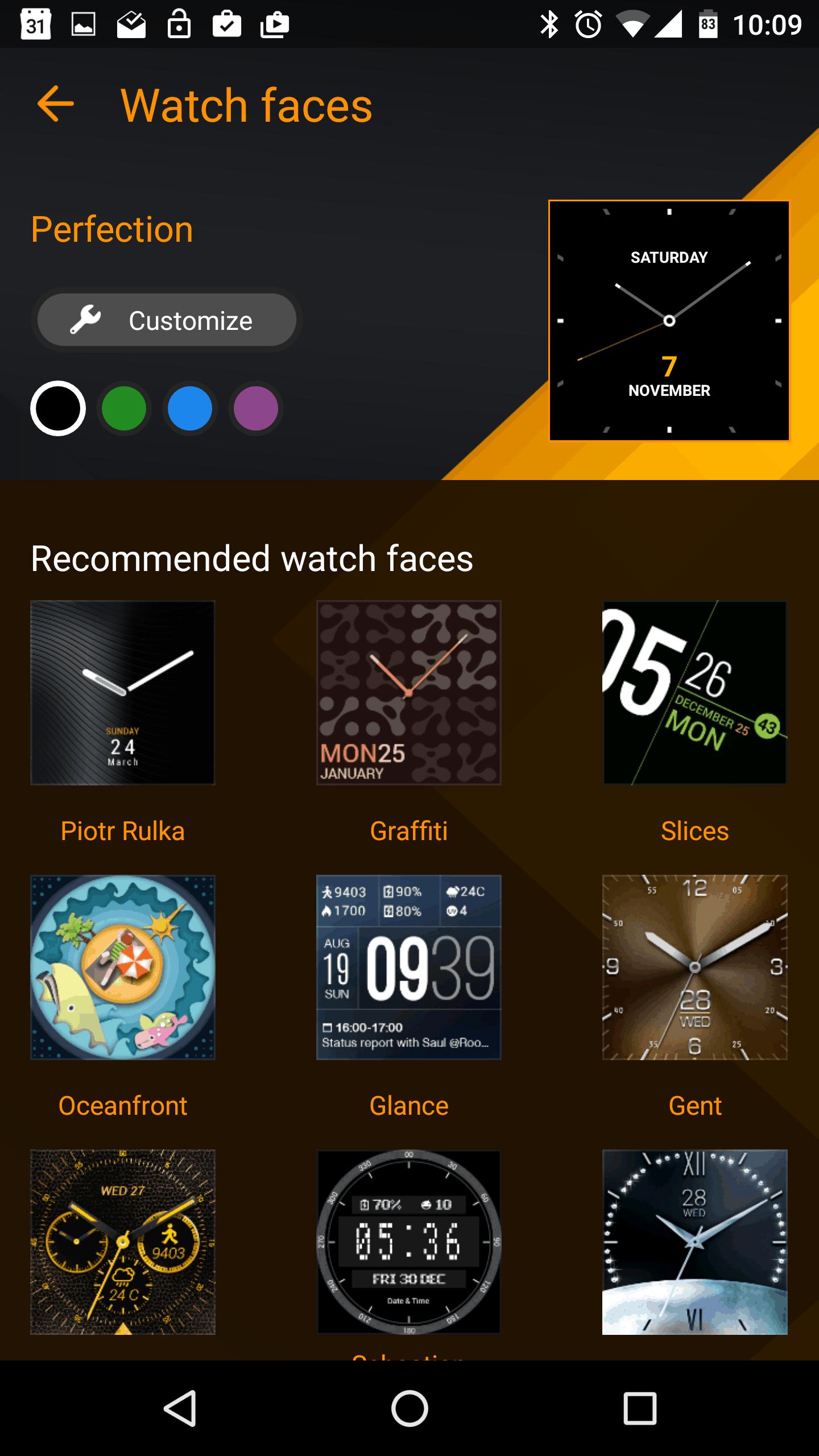 Asus ZenWatch 2 Manager App AH 11