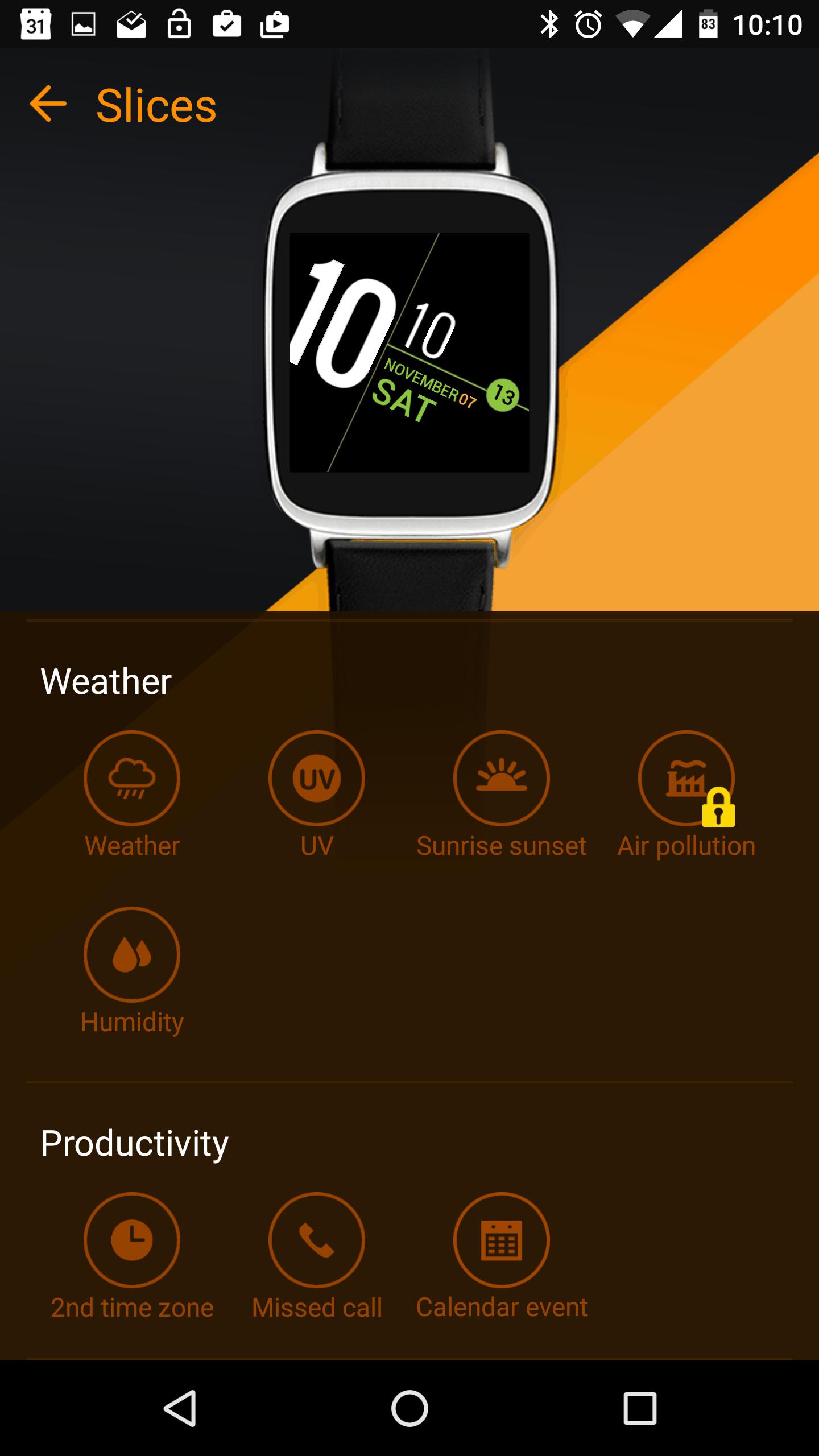 Asus ZenWatch 2 Manager App AH 13